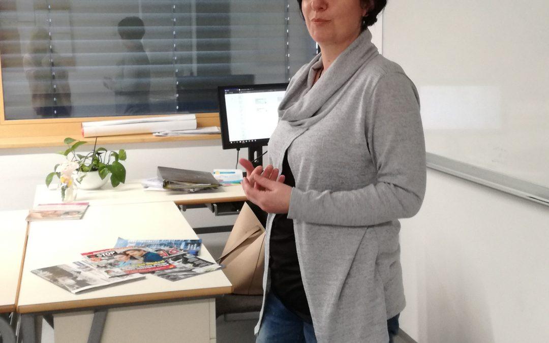 Obisk novinarke Dolenjskega lista